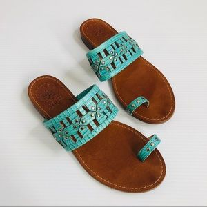 Vince Camuto Helice Blue Slip on Sandals